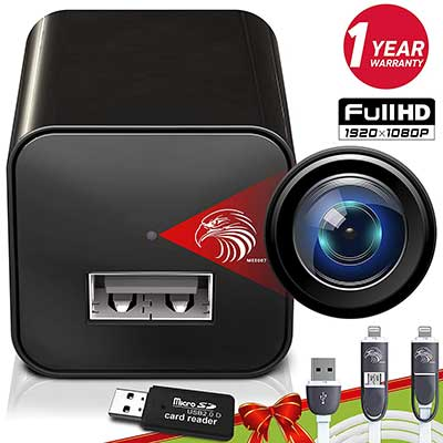 DIVINEEAGLE Mini Spy Camera 1080p USB Charger