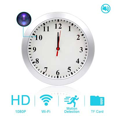 AMCSXH HD 1080P Wi-Fi Wall Clock Spy Camera