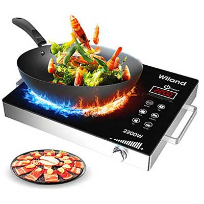 Wiland 2200W Portable induction stove Countertop Burner