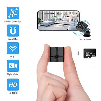 Ehomful Mini Wireless Hidden 1080P Portable Small Security Cameras