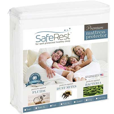 SafeRest King Size Premium Waterproof Mattress Protector