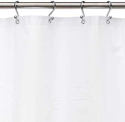 Carnation Home Fashions 10-Gauge PEVA Shower Curtain Liner