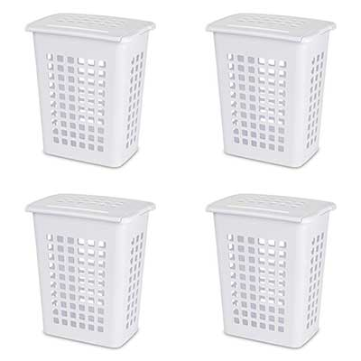 Sterilite 12238004 Rectangular LiftTop Laundry Hamper