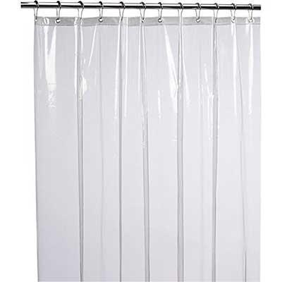 LiBa Eco-Friendly PEVA 8G Shower Curtain Liner