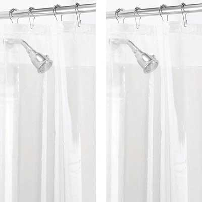 mDesign Waterproof Heavy Duty PEVA Curtain Liner