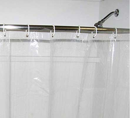 COB Products 4g Heavy-Duty Clear Shower Curtain Liner