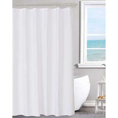 N&Y HOME Machine Washable Fabric Shower Curtain Liner