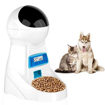 JOYTOOL Automatic Pet Food Dispenser Feeder
