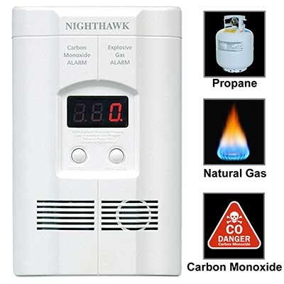 Kiddie AC Plug-in Carbon Monoxide and Explosive Gas Leak Detector
