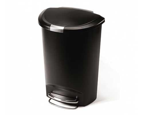 simplehuman 50L Semi-Round Kitchen Step Trash Can