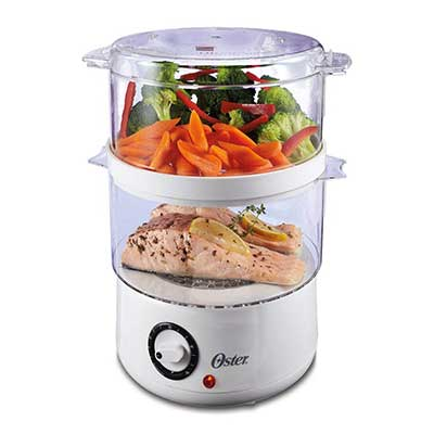 Oster 5 Quart Double Tiered Food Steamer