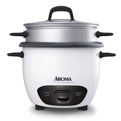 Aroma Housewares 6-Cup Rice Cooker and Food Steamer Pot