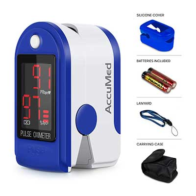 AccuMed CMS-50DL Fingertip Oximeter Blood SpO2 Monitor