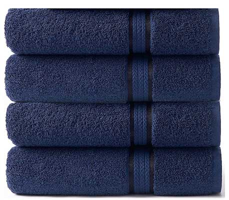 COTTON CRAFT 4-Pack Extra Large Bath Towels