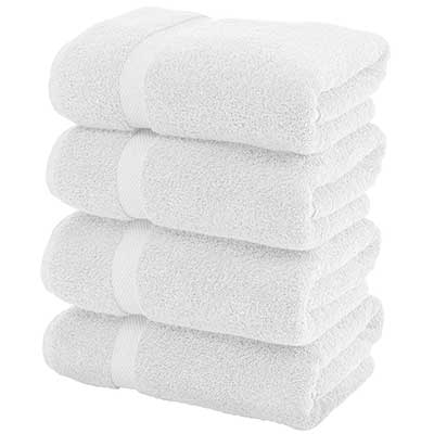 Luxury White Bath Towels Large – Circle Egyptian Cotton