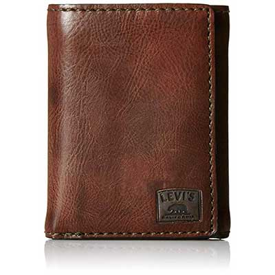 Levi's Men's Trifold Wallet with ID Window and Credit Card Holder