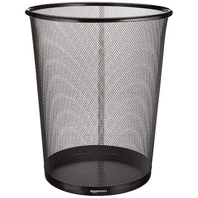 AmazonBasics Mesh Trash Waste Basket