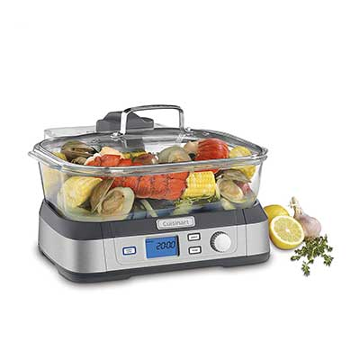 Cuisinart STM-1000 Stainless Steel Digital Glass Steamer