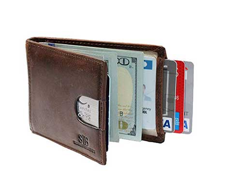 SERMAN BRANDS RFID Blocking Front Pocket Wallet with Money Clip