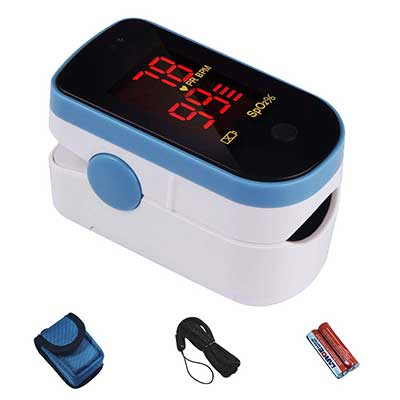 CHOICEMMED Sky Blue Finger Blood Oxygen Saturation Monitor