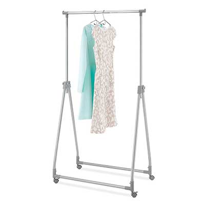 Whitmor Foldable Height-Adjustable Garment Rack