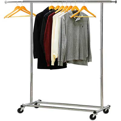 Simple Houseware Heavy-Duty Clothing Garment Rack