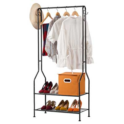 LANGRIA Commercial Grade 2 Tiers Clothing Garment Rack