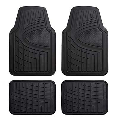 FH Group Heavy Duty Tall Channel Rubber Floor Mat
