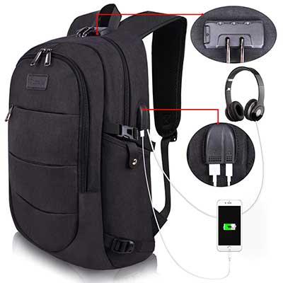 Tzowla Travel Water Resistant Laptop Backpack