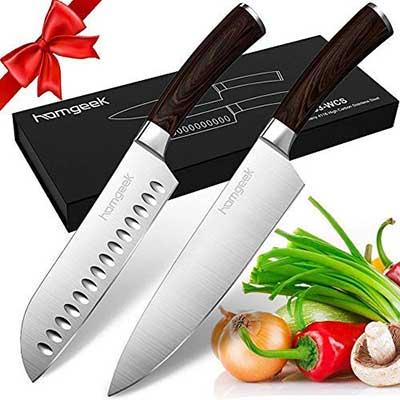 Homgeek Santoku Kitchen Chef's 2 Knife Set
