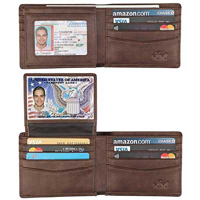 HIMI 2 Windows Men-Genuine Leather RFID Blocking Wallet