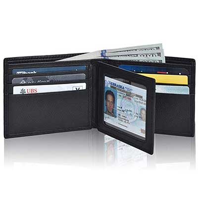 Clifton Heritage Men's Leather RFID Bifold Wallet