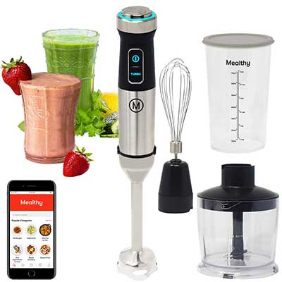 Mealthy 10 Speed Immersion Blender 500W 10 Speed with Turbo