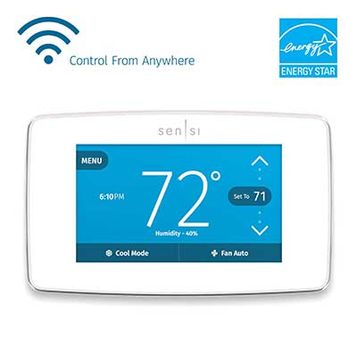 Emerson Sensi Touch-Wi-Fi Smart Thermostat with Touchscreen