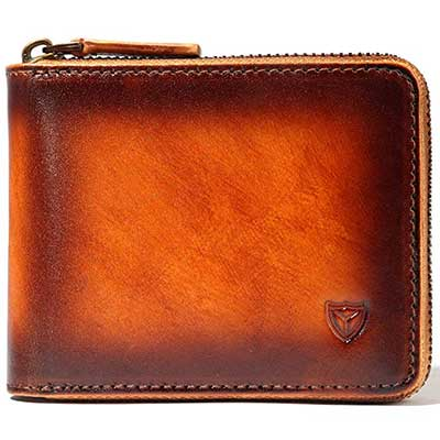 DONWORD Zip Around Wallet Bifold Multi Card Men Wallet