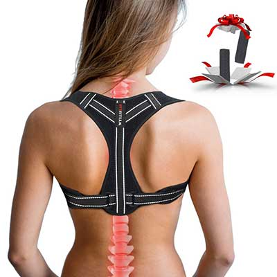 WYLLIELAB Adjustable Back Posture Corrector Brace
