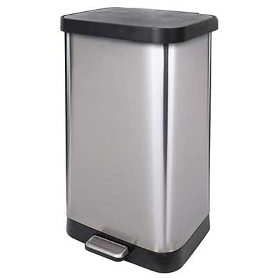 GLAD GLD-74507 Stainless Steel Step Trash Container