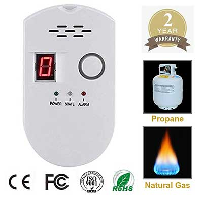 Propane/Natural Digital Gas Leak Detector
