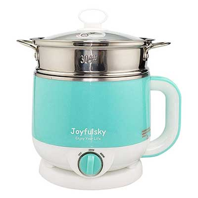 Joyfulsky 1.5L Electric Hot Pot Food Steamer