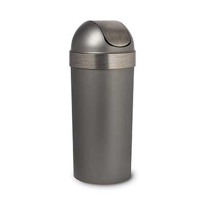 Umbra, Pewter Venti Swing Top Kitchen Trash Bin, 16-Gallon