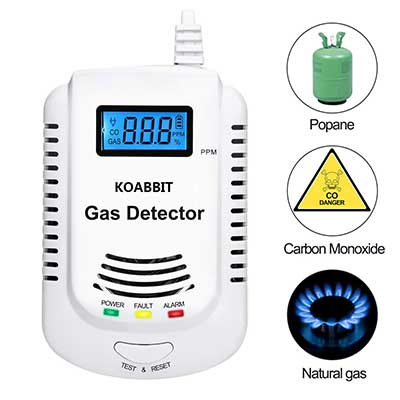 Gas Detector, KOABBIT Plug-in Carbon Monoxide