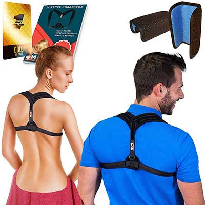 BPC Utilites Back Posture Corrector with Double Detachable Pads