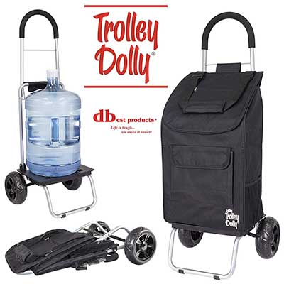 dbest products Trolley Dolly Black Shopping Grocery Cart