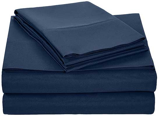 AmazonBasics Light-Weight Microfiber Sheet Set