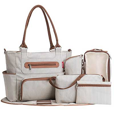 SoHo Collection Grand Central Station Diaper Bag set