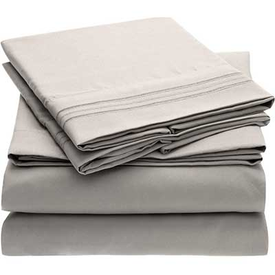 Mellani Bed Sheet Set Brushed Microfiber 1800 Bedding
