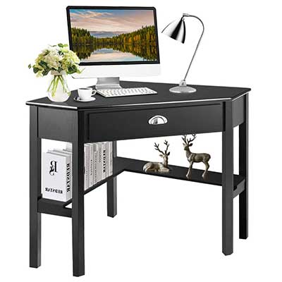 Tangkula Corner Desk, Corner Computer Desk