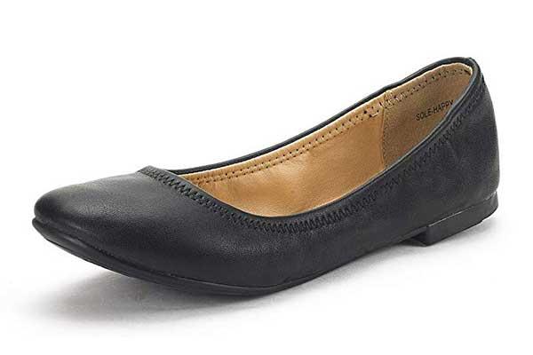 DREAM PAIRS Women's Sole-Happy Ballerina Walking Flat Shoes