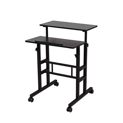 SDADI 2 Inches Carpet Wheels Mobile Standing Desk