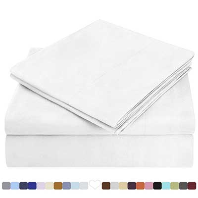 HOMEIDEAS Bed Sheet Set Extra Soft Brushed Microfiber